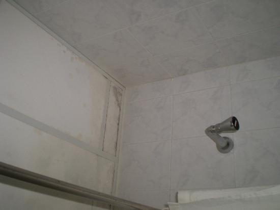 Qawra Palace Hotel: Mould above the shower