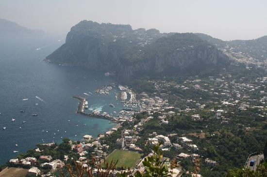 Hotel San Michele: View over the Port of Capri from Villa San Michele gardens in Anacapri.