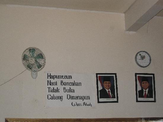 Nasi Bancakan: Picture of President
