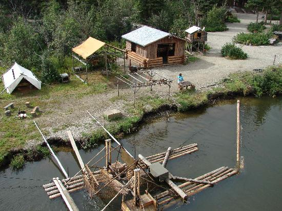 Athabascan fish camp picture of riverboat discovery for Fishing in fairbanks alaska