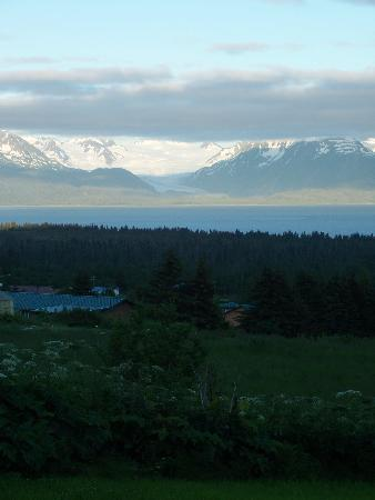 View from Good Karma Inn across Kachemak Bay