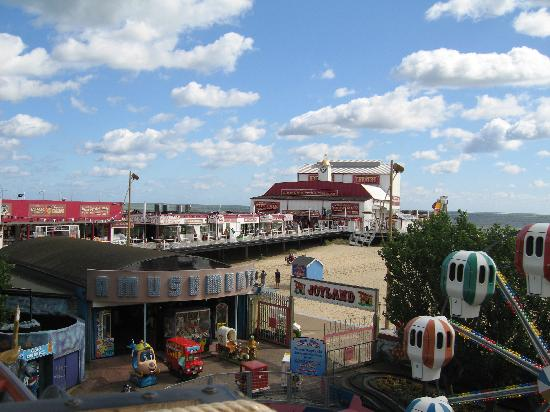 Joyland: View of the pier from the coaster