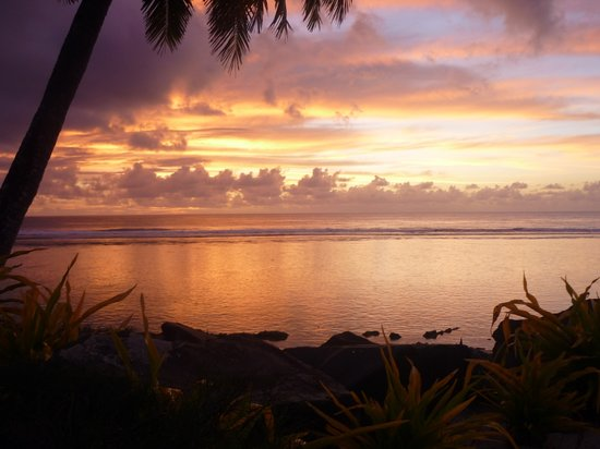 Arorangi, Cook Islands: Sunset