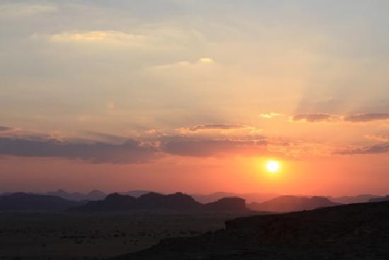 The Caravans Camp: sunset