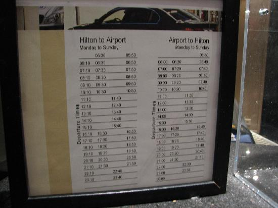 無料バス時刻表(2010年8月当時)