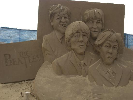 Weston super Mare, UK: The Beatles Sand Sculpture