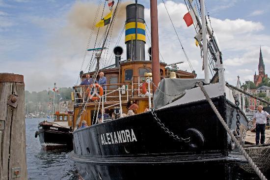 Flensburg, Tyskland: Museumsdamper Alexandra