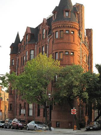 Hotel Brexton: notice the shape, and stairs are in this turret