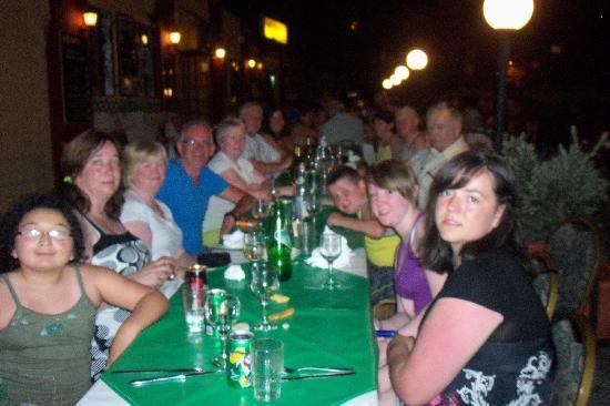 Incognito Restaurant: dinner outside