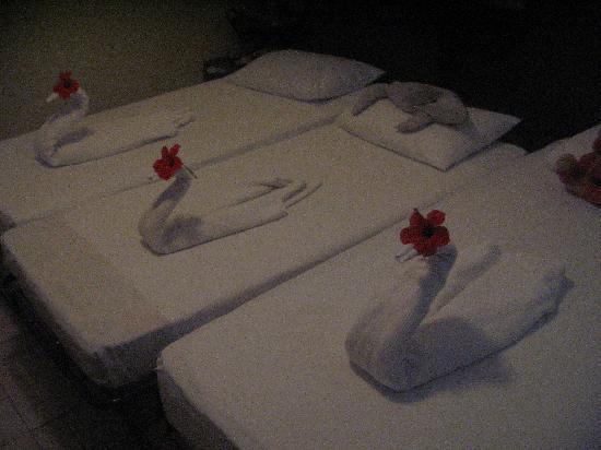Club Kastalia: Déco de lit