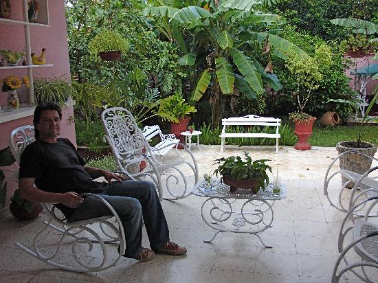 Hostal Las Americas: Terrasse