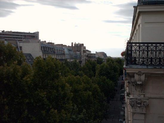 Hotel du Prince Eugene: view from room balcony