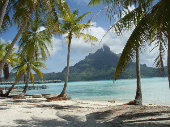 Vaitape, French Polynesia: View if Bora Bora