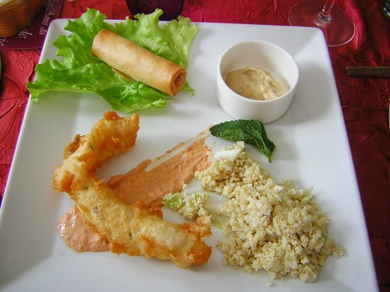 Auderville, France : assiette d'entrée (prise a la carte)