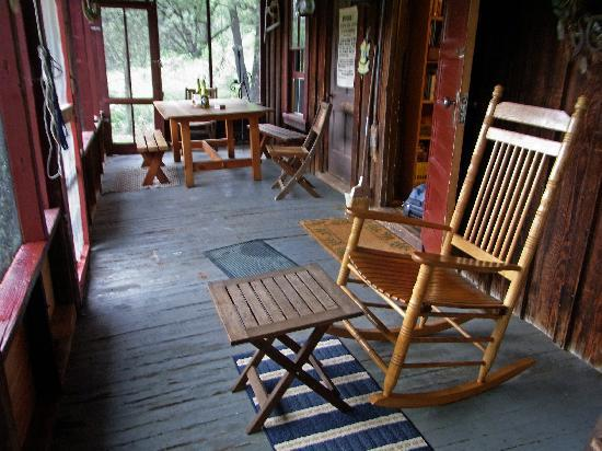 The George Walker House: the porch