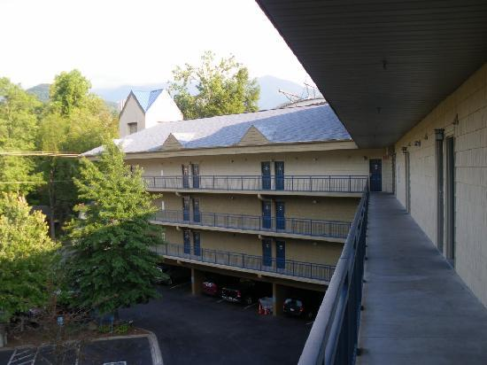Old Creek Lodge: VIew of parking lot