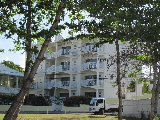 Southern Surf Beach Apartments: View from Rockley