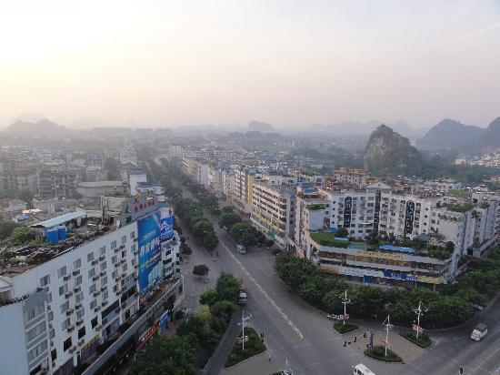 Baigong Boutique Hotel Guilin: ホテルからみた朝の風景