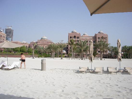 Emirates Palace: hotel beach