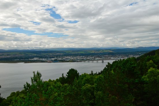 View of Inverness from the hill behind the Rose Cottage