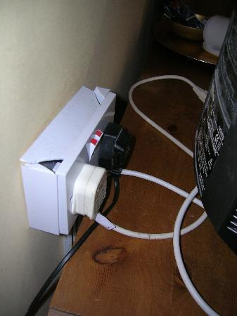 The Sun Inn: Very dangerous wall socket.