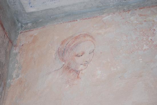 Terzo di Danciano: Peinture murale cage de l'escalier