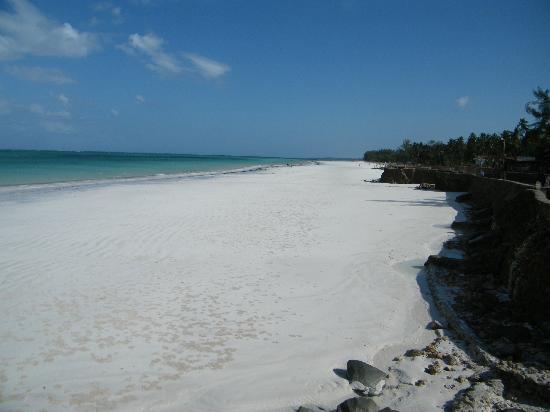 Galu Beach, Kenya: la plage
