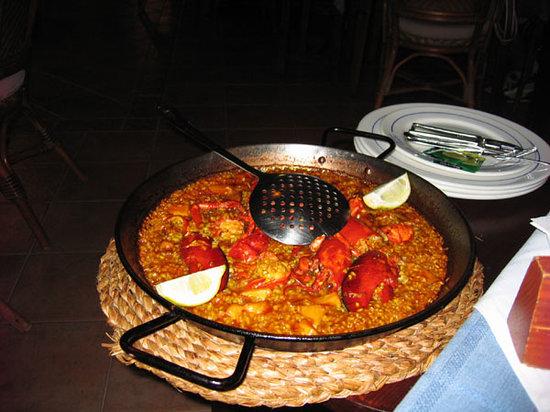 Restaurante Pinatar: Paella con Astice