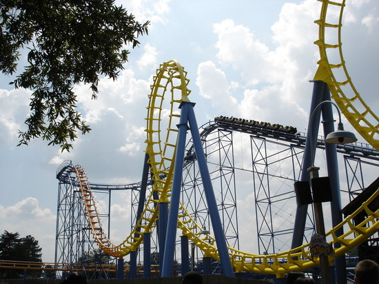 Carowinds: One of the many coasters