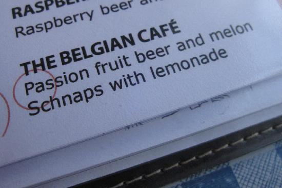 The Belgian Cafe: beer treat!