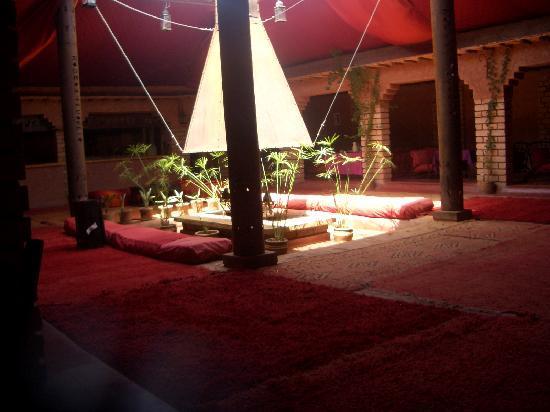 Kasbah Tiwaline: The reception restuarant area