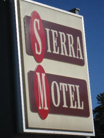 Sierra Motel: look for the sign