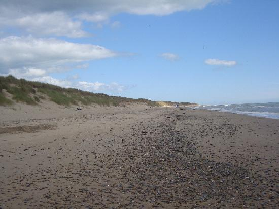 Morriscastle Strand Caravan Park: The beach at Morriscastle Strand.
