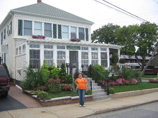 By The Sea Bed and Breakfast: my wife in front of the B&B
