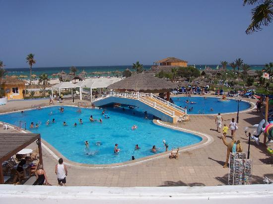 Caribbean World Djerba: vista dalla terrazza bar della piscina
