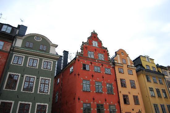 Stockholm, Sweden: Estocolmo: edificios en el casco antiguo