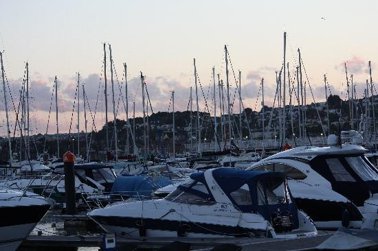 Hotel Burlington: boats in torquay harbour at sunset