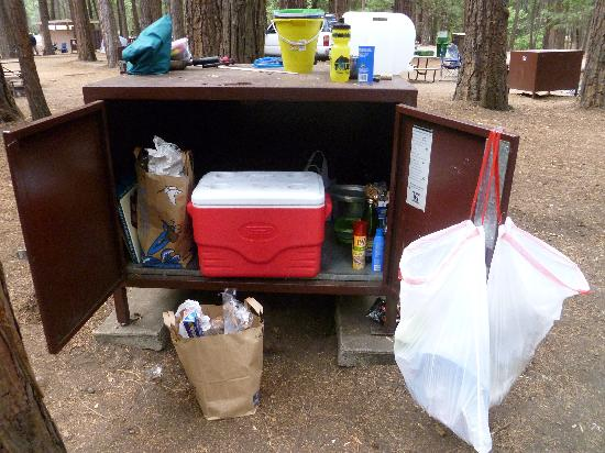 Upper Pines Campground: Bear-proof food locker
