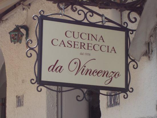 Da Vincenzo: You are at da Vincenza