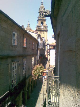 Hotel Airas Nunes: cathedral view from blacony of room 24