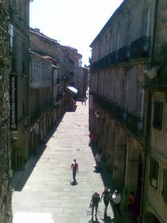 Hotel Airas Nunes: view of Rua Villar from room 24 balcony