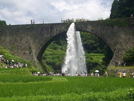 Yamato-cho, ญี่ปุ่น: 放水は年に一度の清掃のため