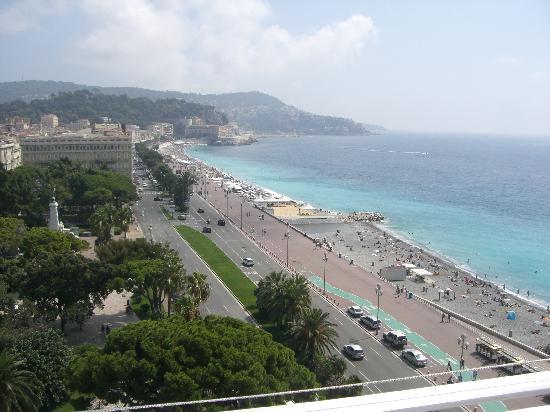 Nice, France : der blick über den strand