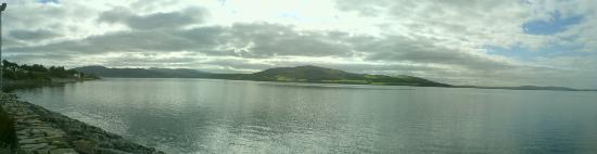 Rathmullan, Irland: panorama blick von der terrasse vor dem hotel
