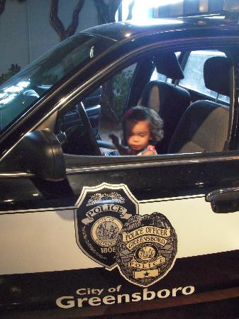 Greensboro Children's Museum: The police car...no sirens