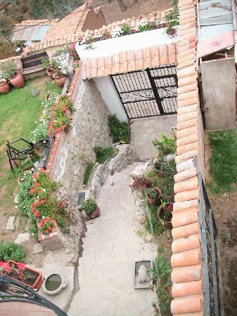 Encantada Casa Boutique Spa: Blick aus dem Fenster auf den Eingangbereich