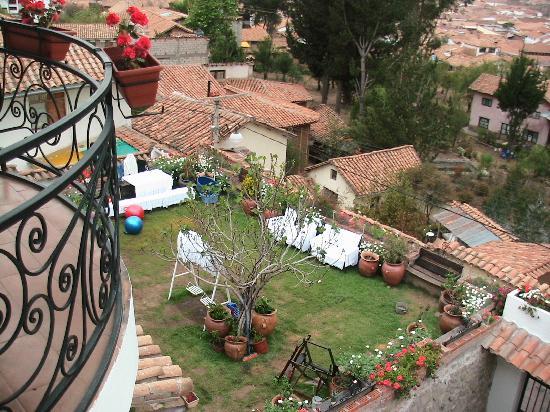 Encantada Casa Boutique Spa : Blick aus dem Fenster in den Garten