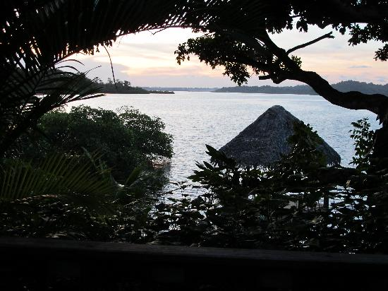 Isla Solarte, ปานามา: View from the common dining area