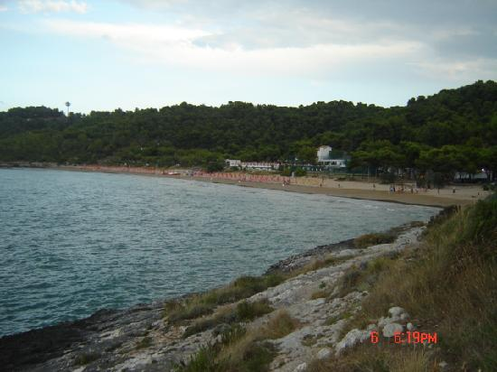 Crovatico Centro Vacanze: la spiaggia  vista dal punto più alto del v
