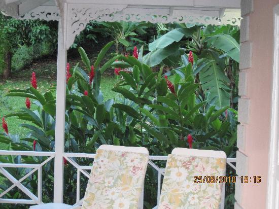 Plantation Beach Villas: outside the living room area